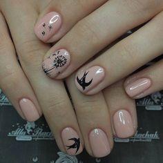 Bird Nail Art, Toe Nail Art, Nail Art Diy, Easy Nail Art, Nail Manicure, Diy Nails, Toenail Art Designs, Brittle Nails, Nail Jewelry