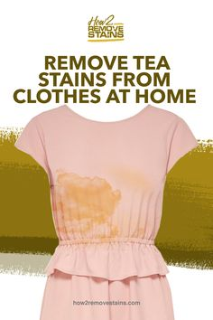 Tea might be light in color, but the brownish discoloration it leaves behind on clothes, upholstery, carpet or other surfaces can be hard to remove. Luckily, there Washing Detergent, Liquid Laundry Detergent, Washing Soda, Wine Stains, Tea Stains, Stain On Clothes, Cleaning Hacks, Organizing Tips, Home Carpet