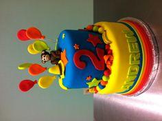 Curious George Cake  www.sweetnessbakeshop.net  facebook.com/sweetnessbakeshop