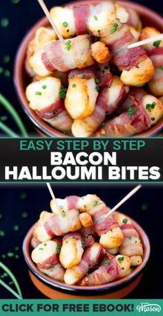 These bacon halloumi bites are the PERFECT party food! Ideal for birthdays, Christmas and BBQ's, you'll not find a snack recipe as quick, easy or tasty as these! food Check out these 12 Delicious Keto Savory Fat Bombs! Without Getting Hungry Christmas Party Food, Xmas Food, Christmas Cooking, Christmas Desserts, Christmas Buffet, Easy Christmas Recipes, Holiday Recipes, Halloumi, Fat Bombs