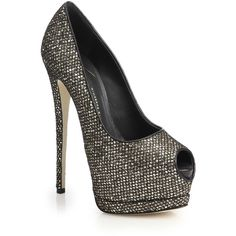 Giuseppe Zanotti Glittered Mesh Peep-Toe Pumps ($885) ❤ liked on Polyvore featuring shoes, pumps, heels, apparel & accessories, hidden platform pumps, peep toe shoes, peep-toe pumps, mesh pumps and giuseppe zanotti shoes