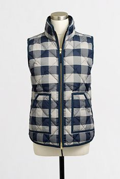Buffalo Plaid Quilted Puffer Vest