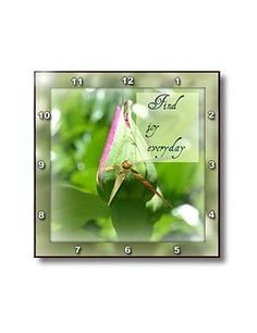 Framed Find Joy Everyday Rose Inspirational Quotes - Wall Clocks