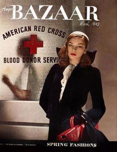 Lauren Bacall, Harper's Bazaar. 1943