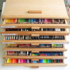 A Palette Full of Blessings: Art Supplies and study. I love these boxes , they work so well for my pencils and pens!