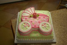 girl's baby shower cake idea