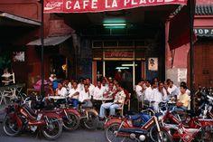 Cafe in Djemma el Fna square, Marrakesh.