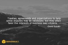 Treaties, agreements and organization to help settle disputes may be necessary, but... #serverbuilt #hosting