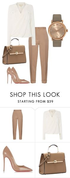 """""""The Vittoria"""" by laurelbeauty on Polyvore featuring Bottega Veneta, Michael Kors, Christian Louboutin, Marc by Marc Jacobs, women's clothing, women's fashion, women, female, woman and misses"""