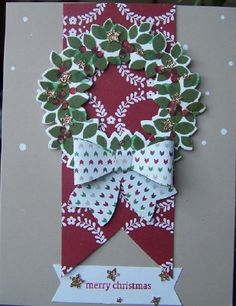 Wondrous  Wreath and the Watercolour Winter Simply Created Card Kit with a little sneak peak of the Bow Builder Punch.  Wow what fun we have instore for us in the new Occasional Catalogue.