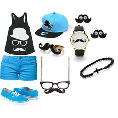 moustache outfit - best outfit in the world<3!