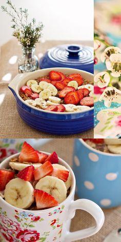 Healthy Strawberry Banana Breakfast Bake Recipe: Brunch, Mother's Day — Family Fresh Cooking Banana Breakfast, Breakfast Bake, Strawberry Breakfast, Strawberry Banana, Strawberry Recipes, Fruit Recipes, Baked Breakfast Recipes, Yummy Food, Tasty