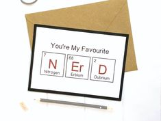 Excited to share this item from my shop: Nerdy Gifts For Men, Geeky Card, Geeky Gifts, Nerd Card, Physics Gift Anniversary Cards For Boyfriend, Anniversary Gifts For Him, Anniversary Ideas, 50th Birthday Cards, Mom Birthday, Romantic Gifts For Her, Paper Envelopes, Boyfriend Gifts, Nerd Boyfriend