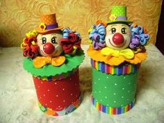 Centro de mesa Aluminum Can Crafts, Tin Can Crafts, Foam Crafts, Cute Crafts, Diy And Crafts, Crafts For Kids, Carnival Birthday Parties, Circus Birthday, Baby Birthday