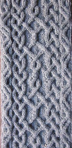 Devorgilla's Knitting (sometimes...)  |  Puzzle Scarf III/17 - main pattern (€1.50).