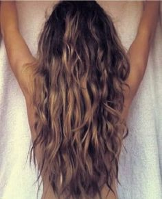 I'm growing my hair out again after seeing this. I love beachy waves (and giving my hair a break from the flat iron, curling iron, blow dryer, etc)
