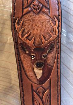 Gun sling leather rifle slingdeer rifle sling by CLNleathercraft