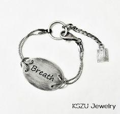 KSZU- Breath Silver Oval Plate Bracelet [light] Personalized Items, Bracelets, Silver, Jewelry, Jewlery, Jewerly, Schmuck, Jewels
