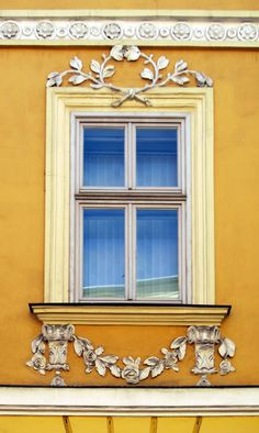 Empire Window with Rose Garland - Krakow, Poland