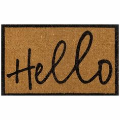 Give your guests a cheery welcome with the Hello doormat. Its natural coir fibres are just the thing for ensuring mud doesn't get walked through the house. Make a great first impression with this friendly doormat. Hello Doormat Size W x D x H in Natural Contemporary Rugs, Contemporary Furniture, Bar Furniture For Sale, House Furniture, Diy Bar Cart, Freedom Furniture, Trendy Home Decor, Gold Diy, Hacks Diy