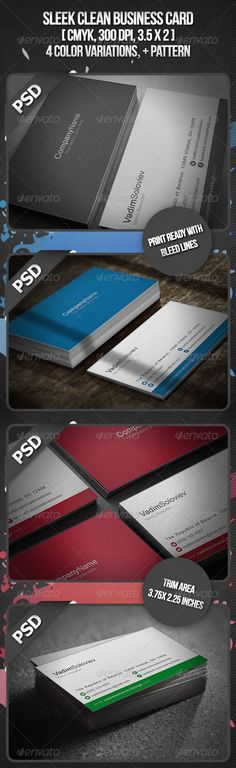 Sleek Business Card - Corporate Business Card Template PSD. Download here: http://graphicriver.net/item/sleek-business-card/2637872?s_rank=243&ref=yinkira