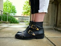 Eve Wanted a Wardrobe: studded boots fashion style