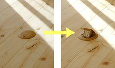 フロアーコンセント 1階リビングの中央の床面にコンセントを作りました。 広いリビングなので、掃除機のコンセントを何度も差し替えなければなりません。でも、中央にあれば、一度に終わってしまいますね。食卓でホットプレートを使うときなども便利! 使わない時は、床をフラットにしておけます。 #すっきり #床フラット #フロアーコンセント #リビング #工藤工務店