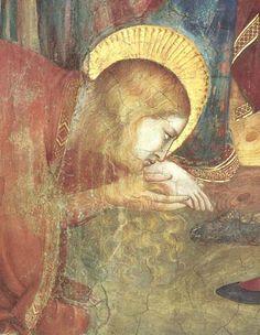 Assisi, Kirche San Francesco, Unterkirche, Magdalenenkapelle, Westwand, Detail, Das Mahl im Haus des Pharisäers, GIOTTO di Bondone, ca 1305 - 1309 entstanden