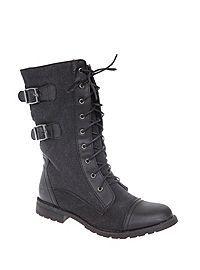 HOTTOPIC.COM - Black Force Combat Boot