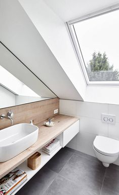 Attic conversion, rating modern bathroom by philip kistner photography modern - Dachgeschossausbau, Ratingen: modern bathroom by Philip Kistner Fotografie - Home, Tiny Bathroom Storage, Attic Apartment, Modern Bathroom, Small Bathroom Remodel, Attic Bathroom, Bathrooms Remodel, Small Remodel, Attic Conversion
