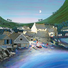 Cad Cove - by Gilly Johns Best Jigsaw, Camden Town, Folk, Funky Art, Art For Art Sake, Beach Art, New Artists, Pretty Pictures, Paintings