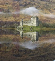 INVERARY CASTLE ARGYLL SCOTLAND CHARMING MOUNTED WATER COLOUR PRINT 8X6 OVERALL