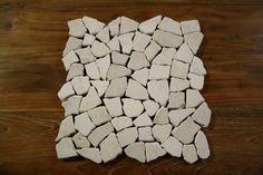 1 Matte Fliese Bruch mosaik Marmor Naturstein Stein Wand Boden Restposten Neu
