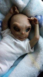 """""""Little Paul"""" Gray Alien Baby"""