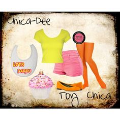 """""""Chica-Dee (Toy Chica) FNAF2"""" by accillia on Polyvore"""
