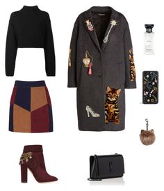 """""""Fancy look)"""" by beehazz on Polyvore featuring Dolce&Gabbana, Aquazzura, DKNY, LaMarque, Givenchy and Yves Saint Laurent"""