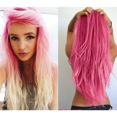 20 Pink Hairstyle Pics Hair Color Inspiration StrayHair ❤ liked on Polyvore featuring beauty products, haircare, hair, hairstyles, people, beauty e hair styles