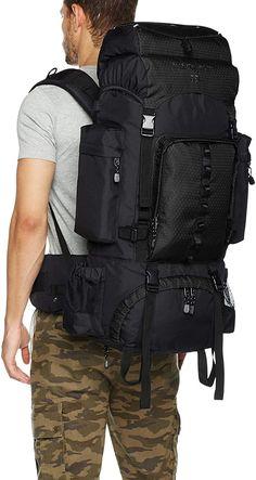AmazonBasics Internal Frame (Hardback) Hiking Backpack with Raincover - Classi Blogger