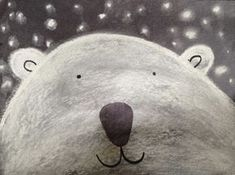 candice ashment art: How to make a simple Polar Bear {chalk art} kindergarten style