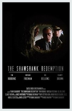 BROTHERTEDD.COM - bcapazo: Shawshank. By bcapazo Minimal Movie Posters, Film Posters, Beloved Film, The Shawshank Redemption, Morgan Freeman, Music Composers, Alternative Movie Posters, Great Movies, Awesome Movies