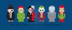 Batman's Enemies Movie Characters Digital by AmazingCrossStitch