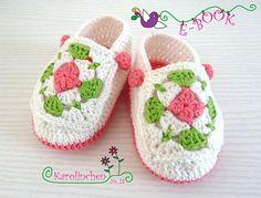 Ravelry: Baby Schuhe mit Granny Squares pattern by Karolinchen by Stephanie Göhr