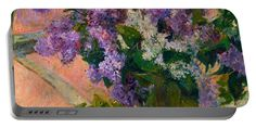 David Bridburg Portable Battery Charger featuring the digital art Rustic 5 Cassatt by David Bridburg