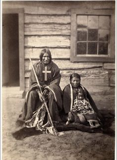 Southern Arapaho family by Soule ca 1870. Huntington Lib.