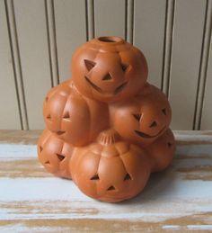 Vintage Halloween Pumpkin Stack Pottery by VintageSouthernPicks