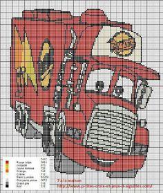 Disney Cars x-stitch Disney Cross Stitch Patterns, Cross Stitch For Kids, Cross Stitch Baby, Cross Stitch Charts, Cross Stitch Designs, Cross Stitching, Cross Stitch Embroidery, Embroidery Patterns, Disney Cars