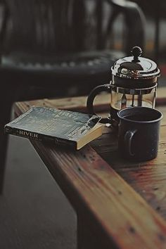 morning reading and coffee