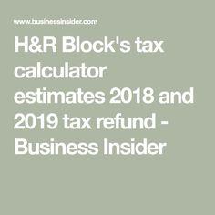 h and r block tax calculator 2019