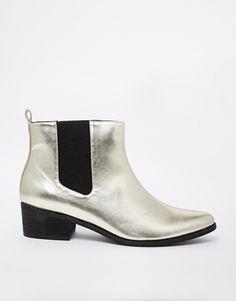London+Rebel+Heeled+Chelsea+Boots