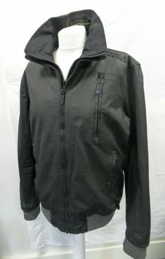 96b0e9d79bf Mens Superdry Jacket Moody Norse Bomber Black Casual Cotton Wax Look Size M   fashion